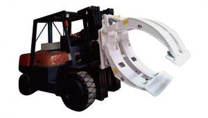 อุปกรณ์เสริมสำหรับรถยก 360 หมุนแคลมป์ม้วนกระดาษแขนเดียว
